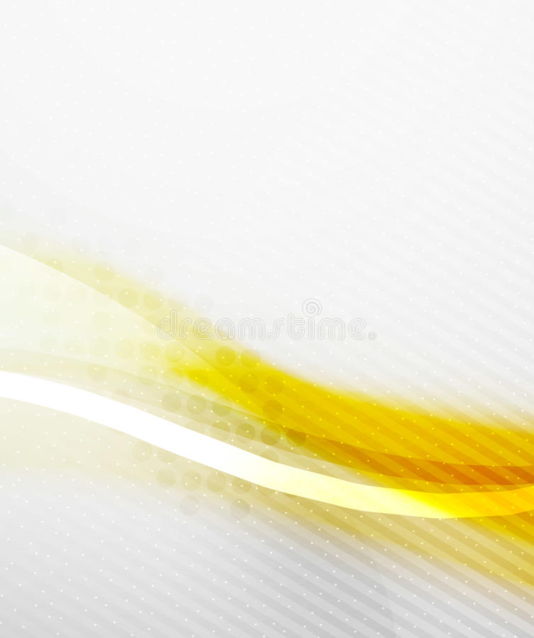 Abstract Background - Yellow shiny blurred wave vector illustration