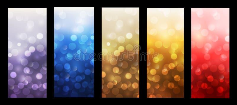 Abstract backgrounds blinking bokeh. Vector design vector illustration