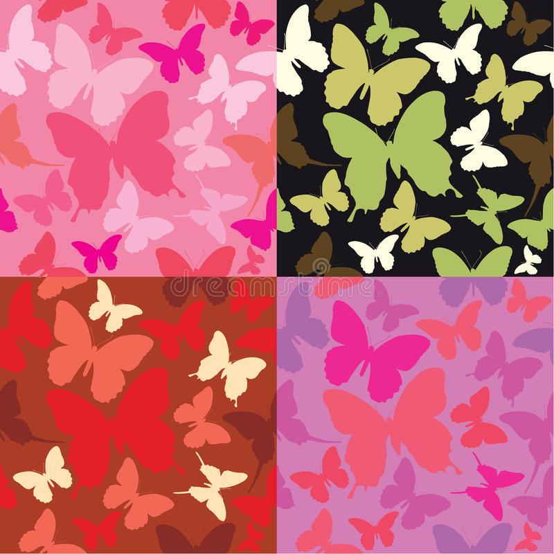 Download Abstract Backgrounds With Butterflies Siluetes Stock Vector - Illustration: 26467728