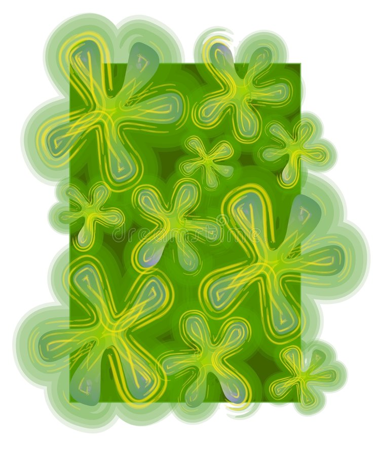 Abstract Backgrounds Clover stock illustration