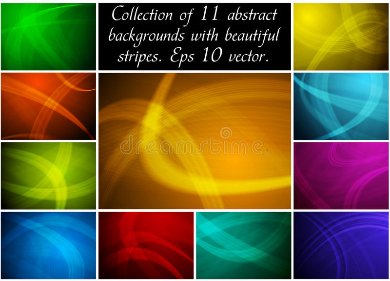 Abstract backgrounds collection royalty free illustration