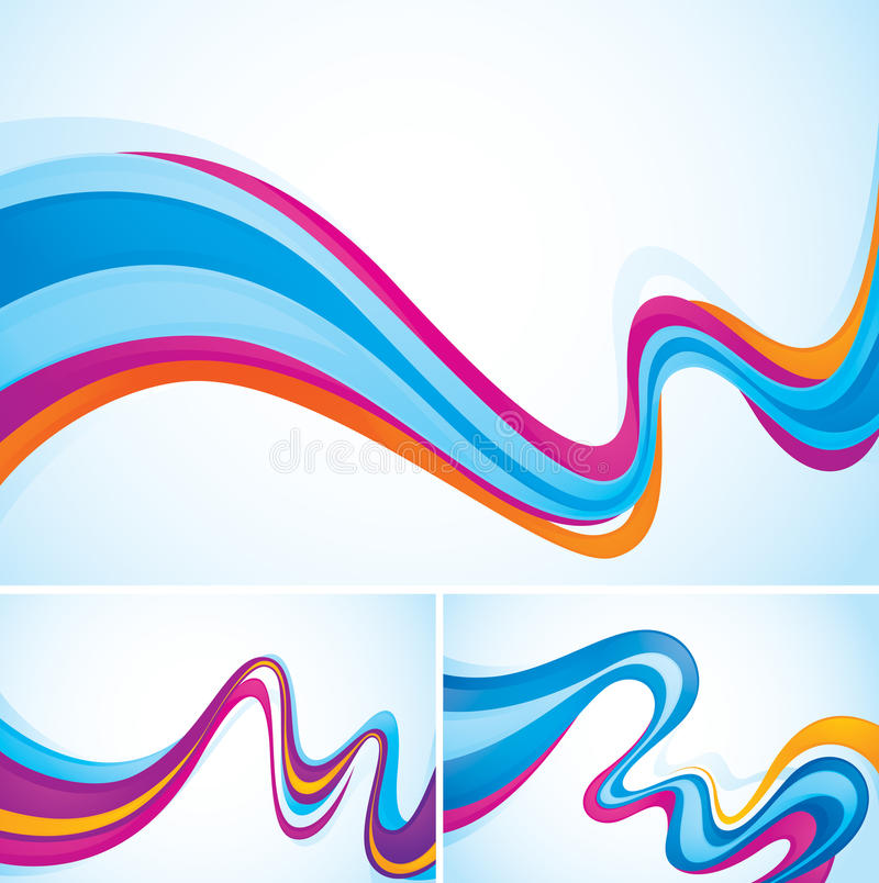 Flow abstract background. Abstract backgrounds series (flow). Each background separately on different layers. And created in CMYK mode stock illustration