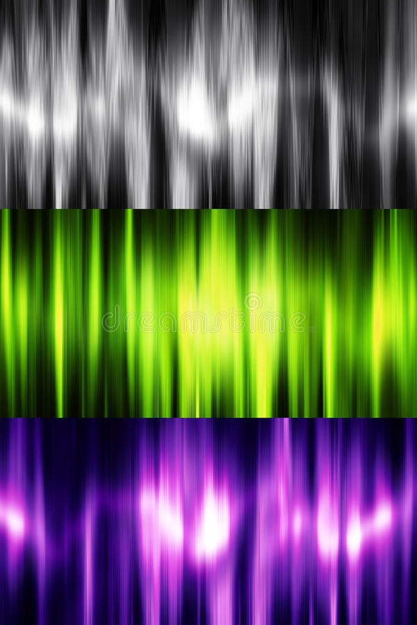 Abstract backgrounds. Set of three color variations vector illustration