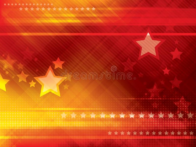 Abstract backgrounds with stars. Abstract red and orange backgrounds with stars vector illustration stock illustration