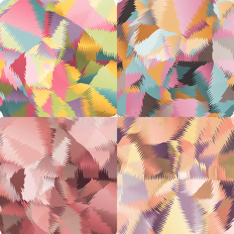 Abstract backgrounds with triangles and colorful geometric shapes. Texture pattern for covers, banners, booklets, etc. For web or printed media royalty free illustration