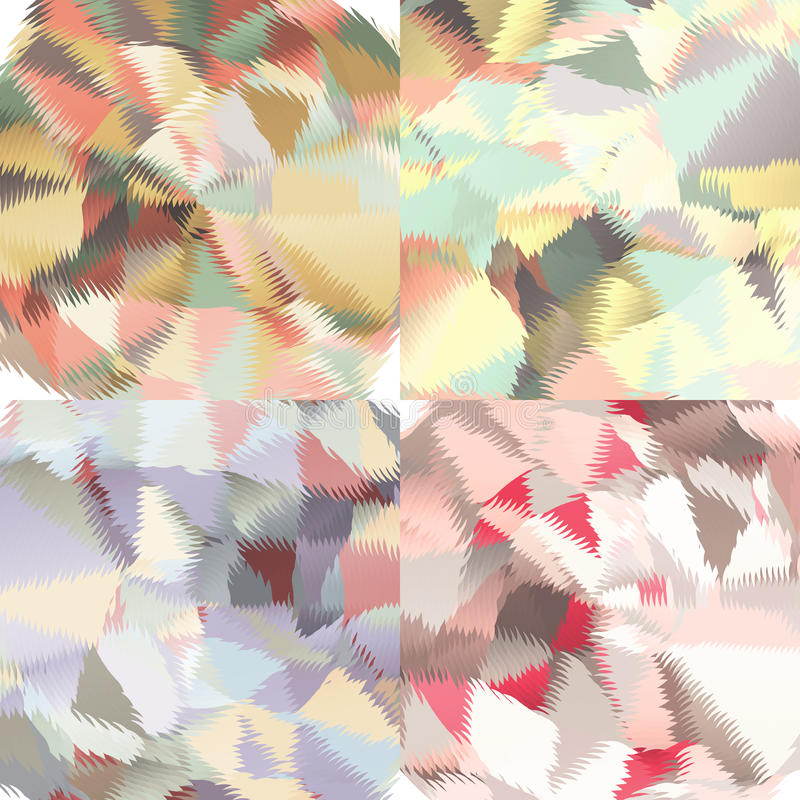 Abstract backgrounds with triangles and colorful geometric shapes. Texture pattern for covers, banners, booklets, etc. For web or printed media stock illustration