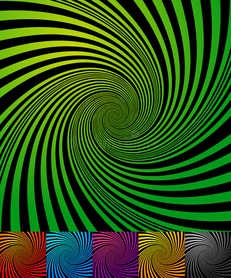 Abstract backgrounds with vortex, spiral shape. Abstract backgrounds with vortex shape. Spiral effect on converging-radiating lines - Royalty free vector vector illustration