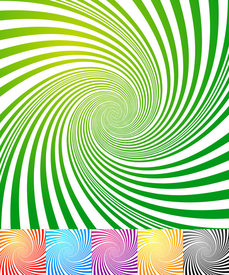 Abstract backgrounds with vortex, spiral shape. Abstract backgrounds with vortex shape. Spiral effect on converging-radiating lines - Royalty free vector royalty free illustration