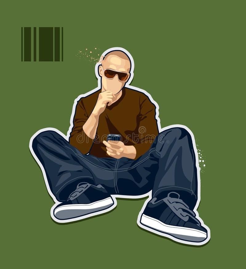 Abstract bald man