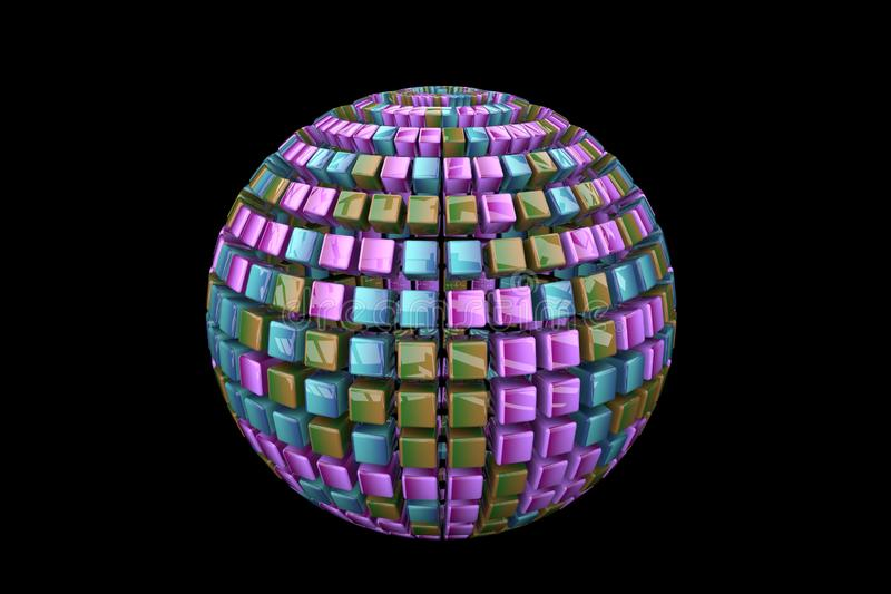 Abstract ball on a black background royalty free stock photo