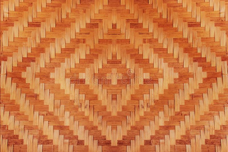 Abstract bamboo woven pattern texture for background stock photo