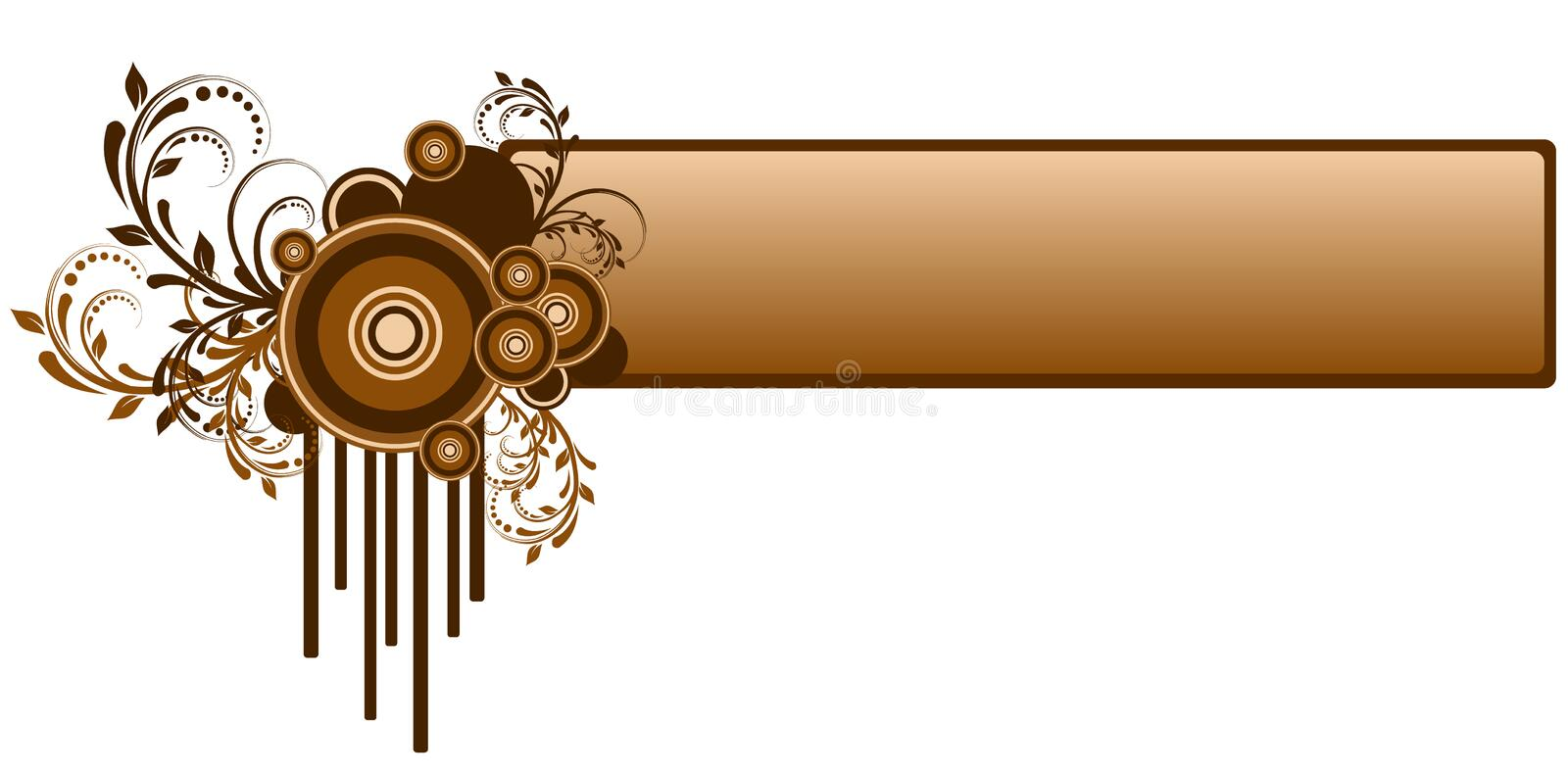 Abstract banner stock illustration