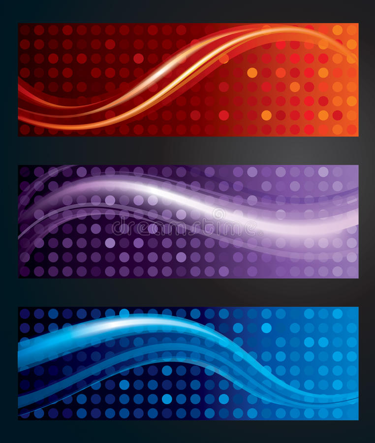 Abstract banner Background stock image