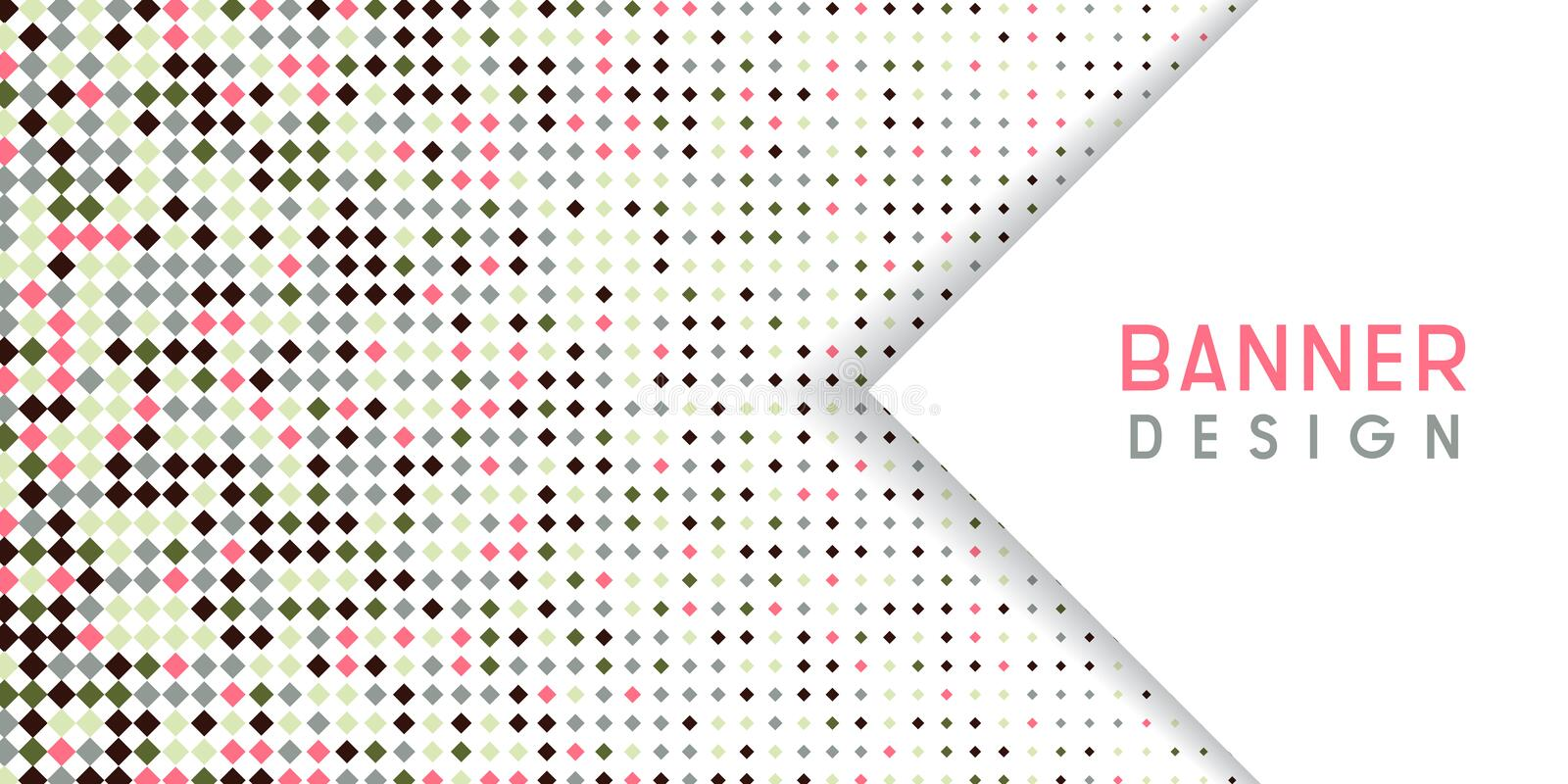 Abstract banner background with diamond halftone design vector illustration