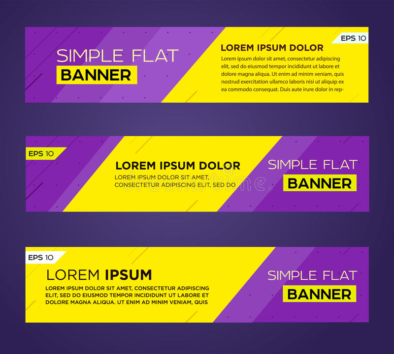 Abstract banner design. Abstract banner line design . Business and promo. Vector eps10 stock illustration