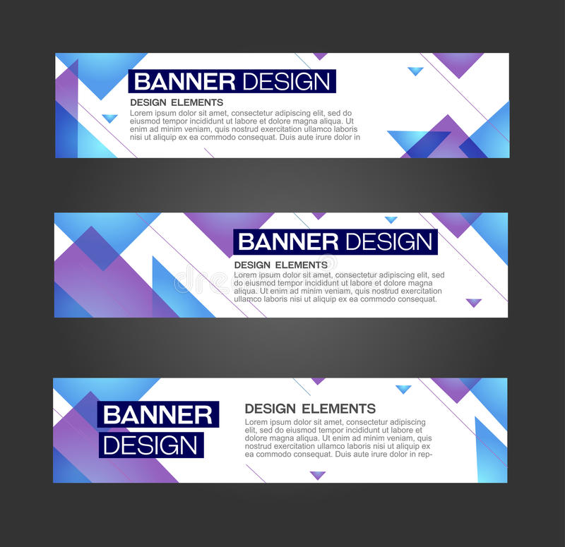 Abstract banner design royalty free illustration