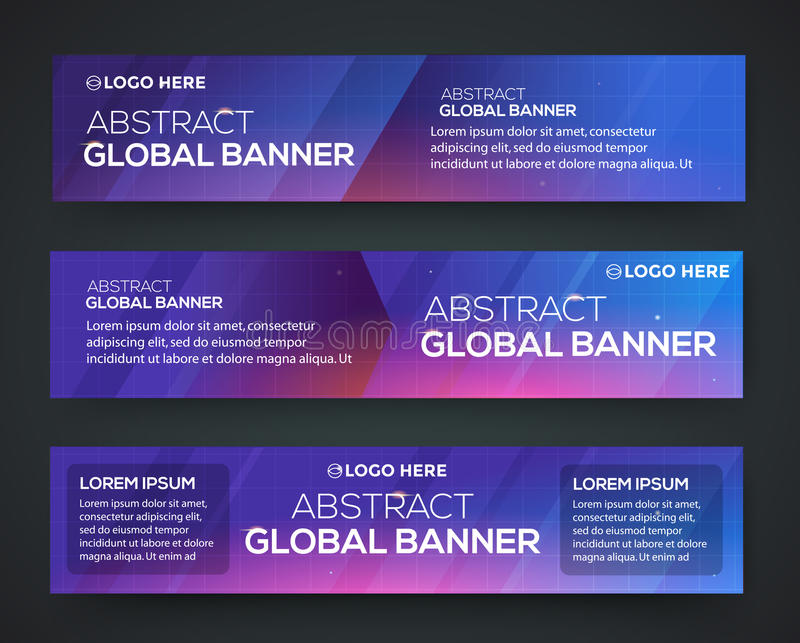 Abstract banner design vector illustration