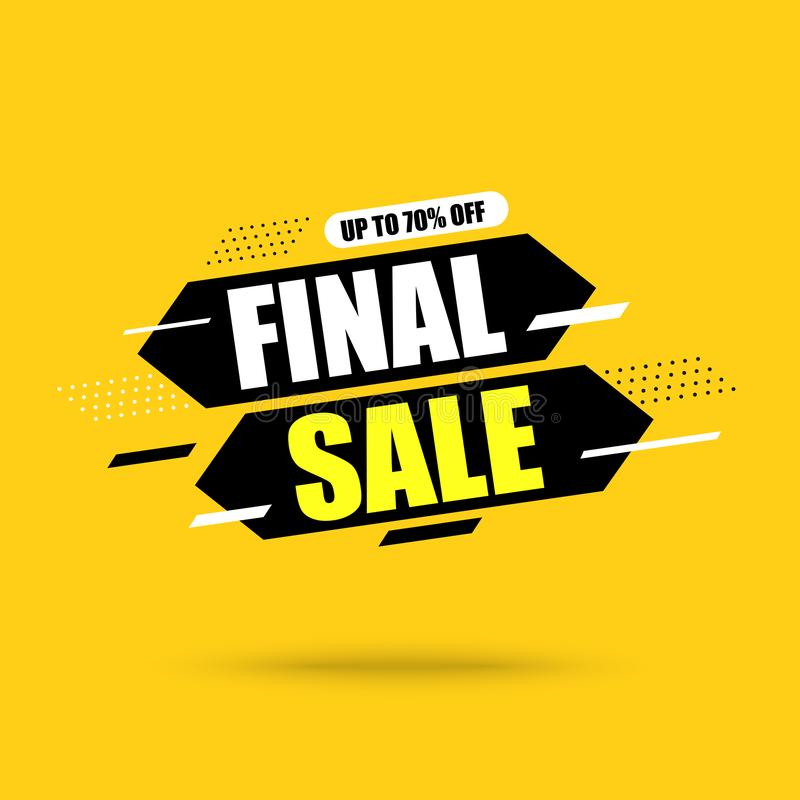 Abstract banner Final Sale. On Yellow background.Vector illustration vector illustration