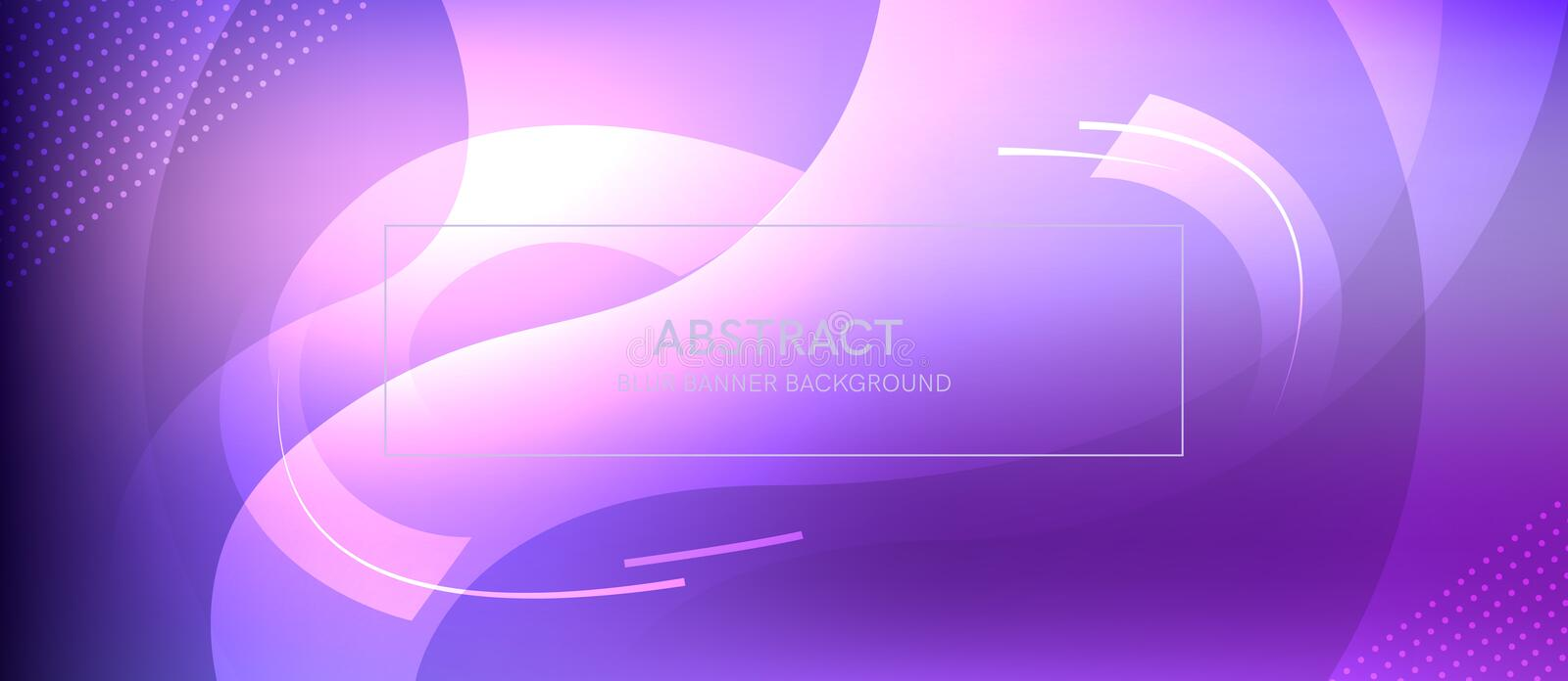 Abstract banner with a gradient shapes and blur vector illustration