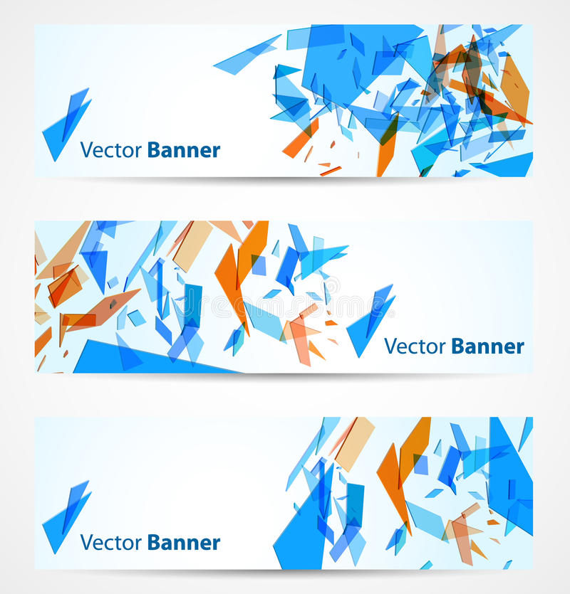 Download Abstract banners stock vector. Image of decoration, broken - 24654874
