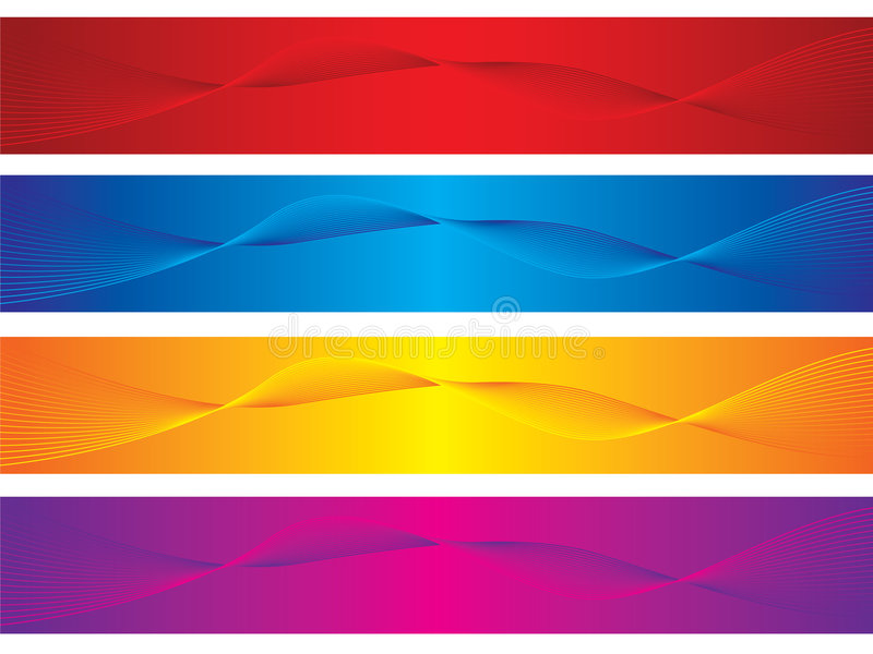 Abstract banners stock illustration