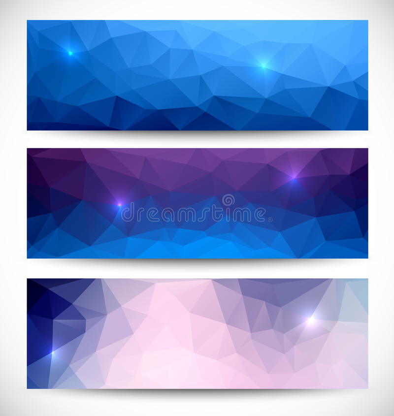 Abstract banners collection. stock illustration