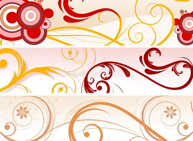 abstract banners (headers), illustration royalty free illustration