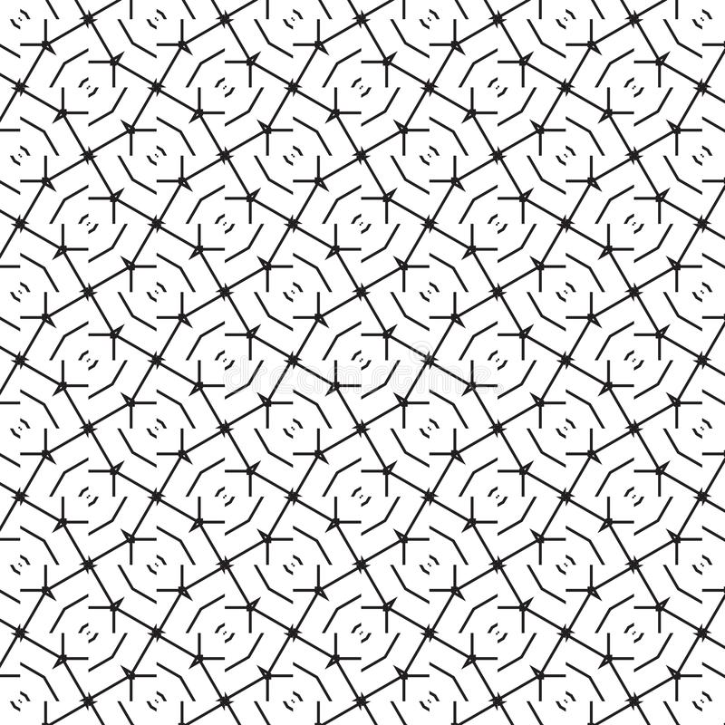 Abstract Barb Wire Grid Lines Pattern Background Vector Illustration. Abstract Seamless Barb Wire Geometric Mesh Grid Line Pattern Graphic Design Background stock illustration
