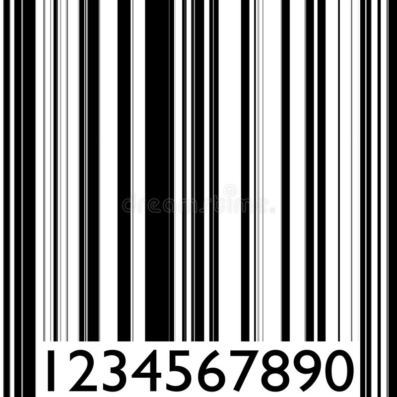 Abstract barcode strip royalty free illustration