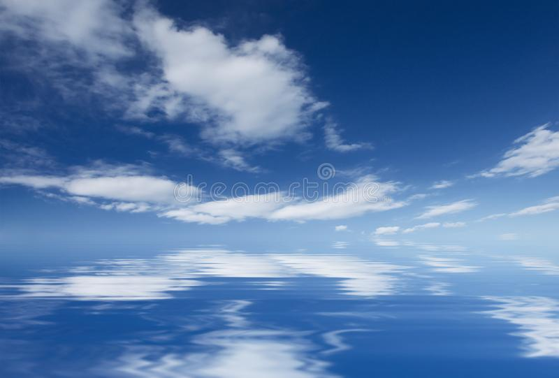 Abstract basckground with a blue sky royalty free stock photography