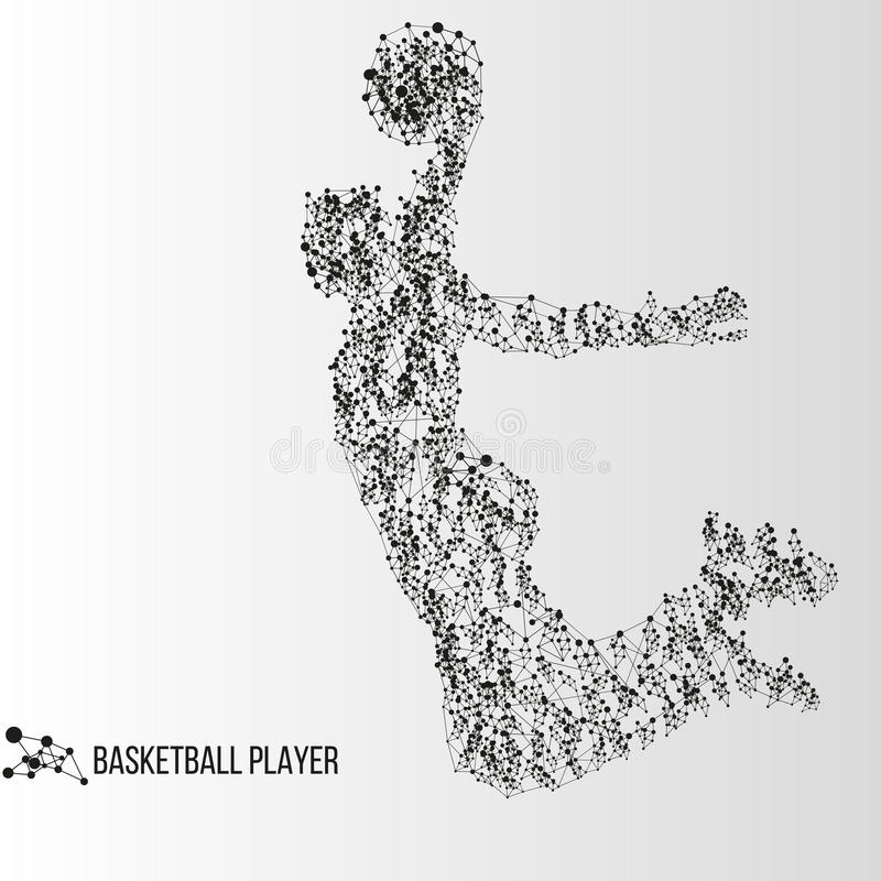 Abstract basketball player royalty free illustration