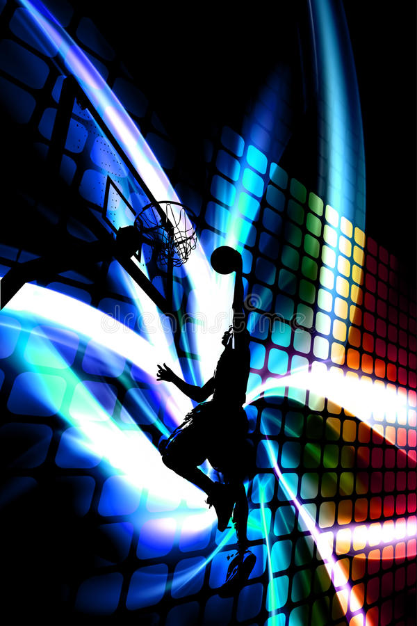 Abstract Basketball Silhouette stock illustration