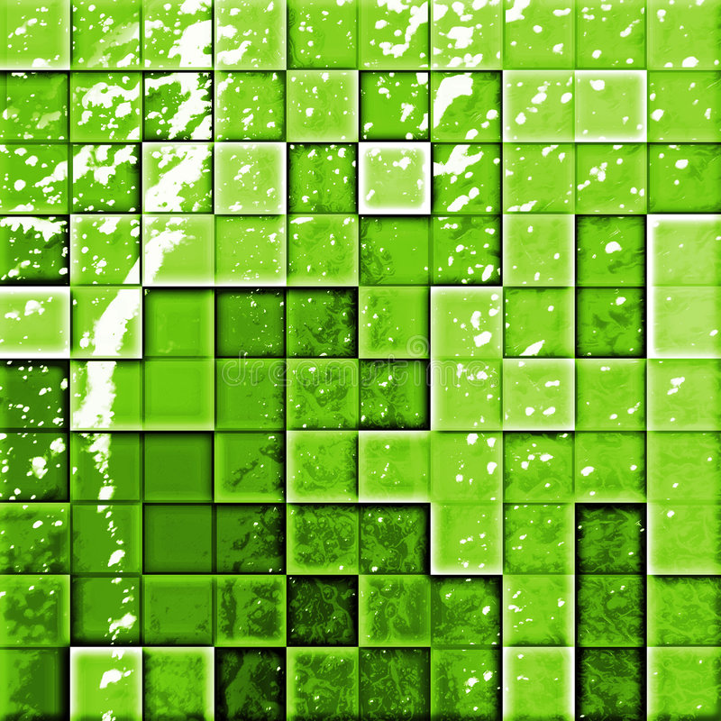 Abstract bathroom's tiles gree stock illustration
