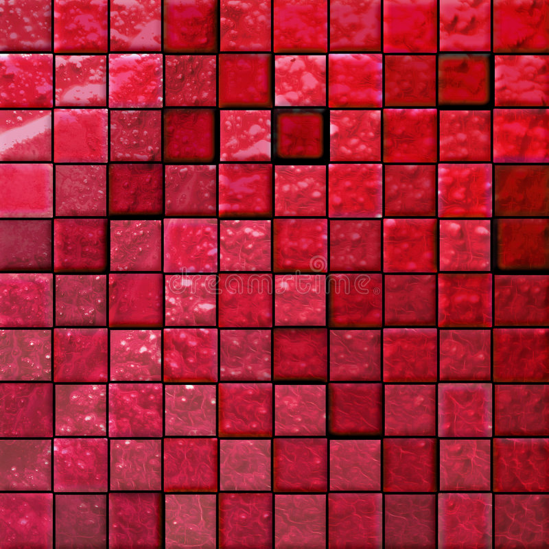 Abstract bathroom's tiles red royalty free illustration