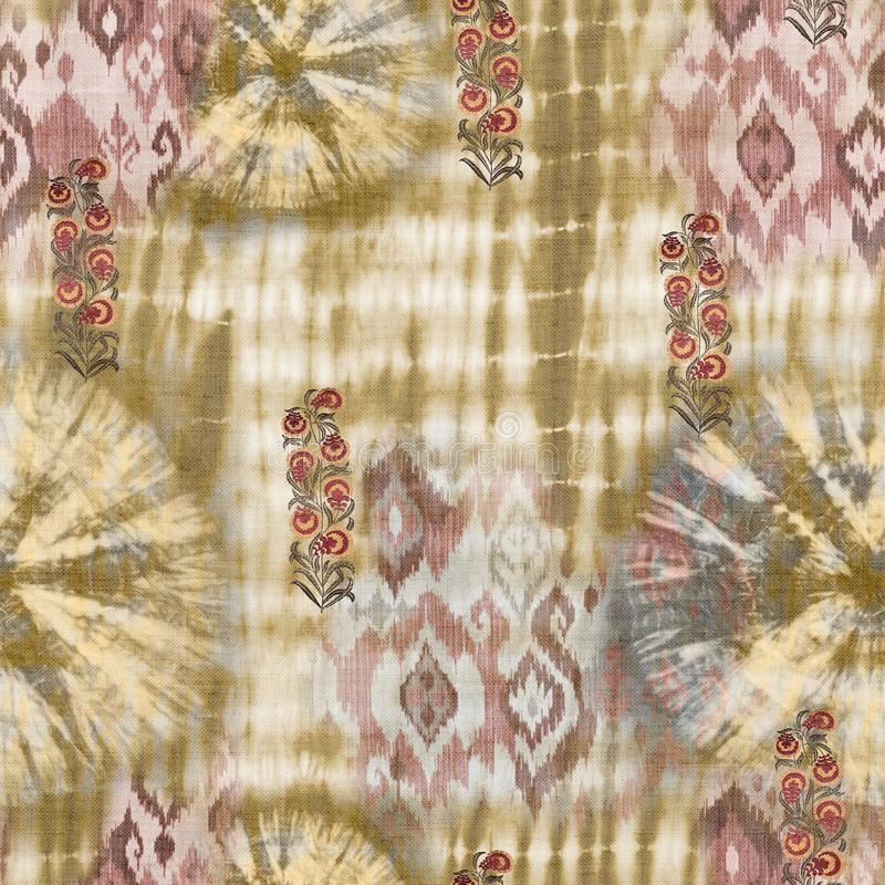 Abstract batik tie-dye textile pattern - Illustration royalty free stock image