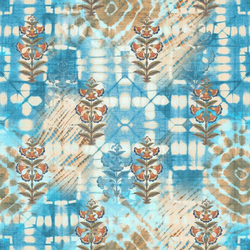 Abstract batik tie-dye textile pattern - Illustration. Art for abstract batik tie-dye textile pattern - Illustration stock photo