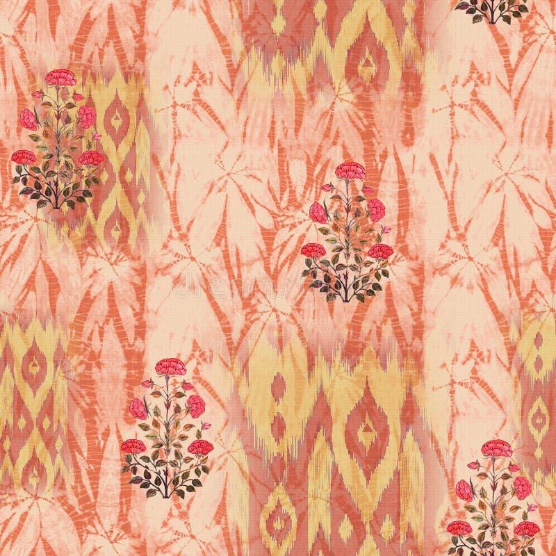 Abstract batik tie-dye textile pattern - Illustration. Art for abstract batik tie-dye textile pattern - Illustration stock photos