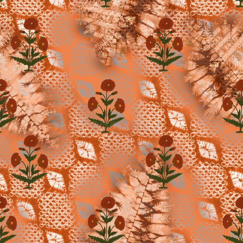 Abstract Batik Tie-dye Textile Pattern