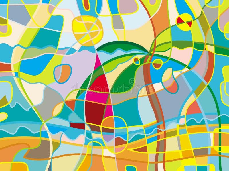 Abstract beach stock illustration