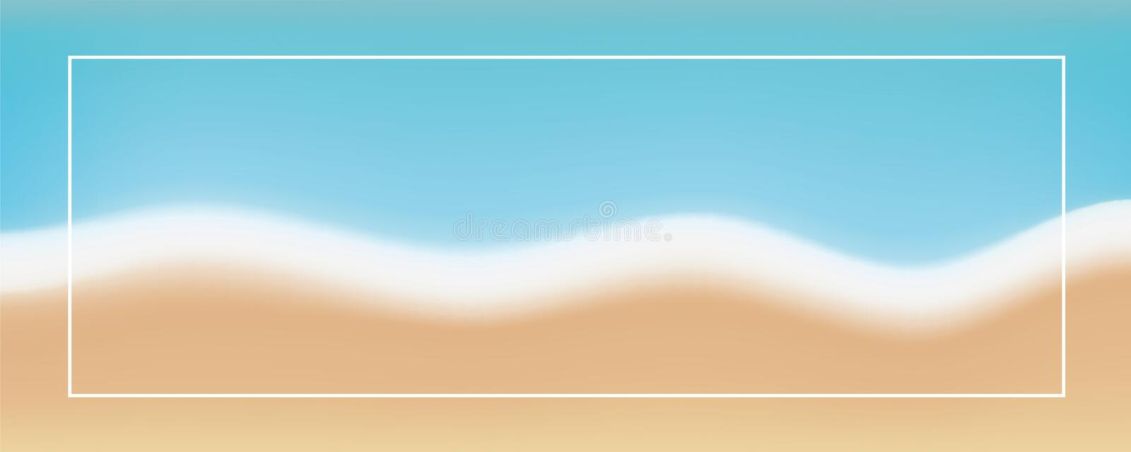Abstract beach background in soft retro colors stock illustration