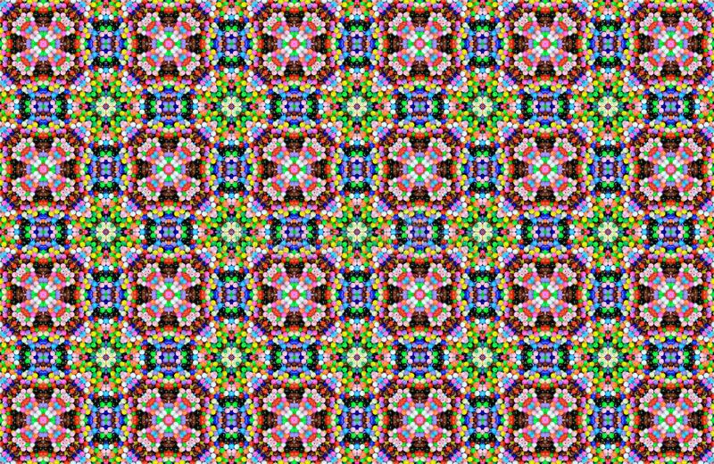 Abstract Bead patterns background royalty free stock image