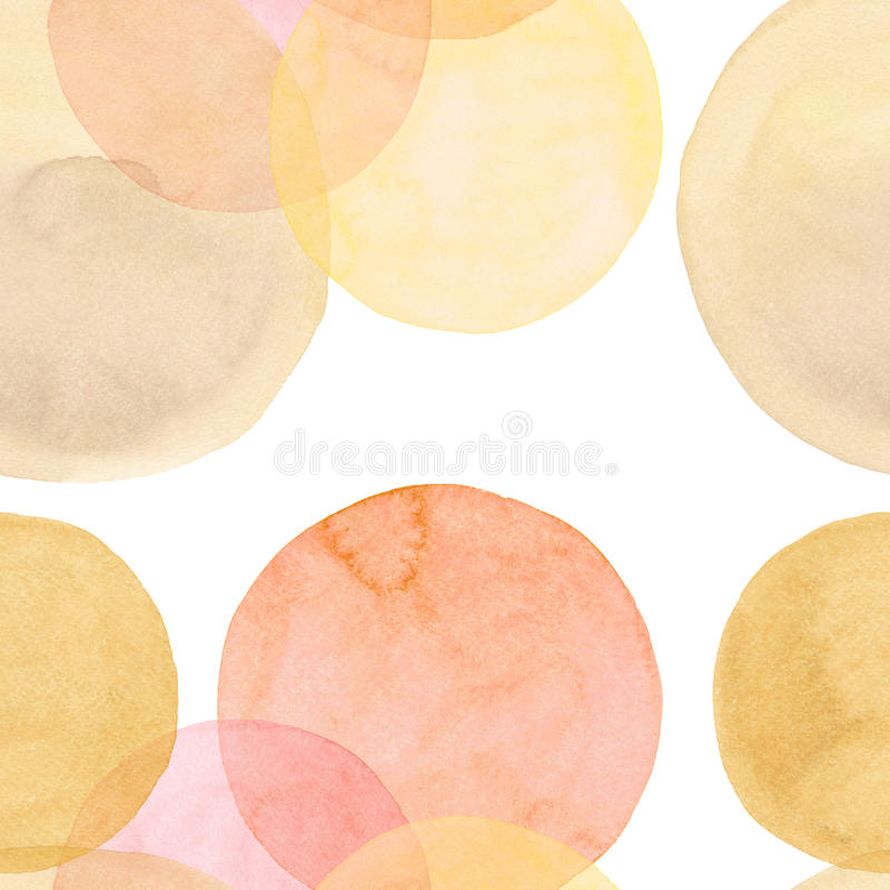 Abstract beautiful artistic tender wonderful transparent bright autumn orange yellow red circles different shapes pattern watercol vector illustration