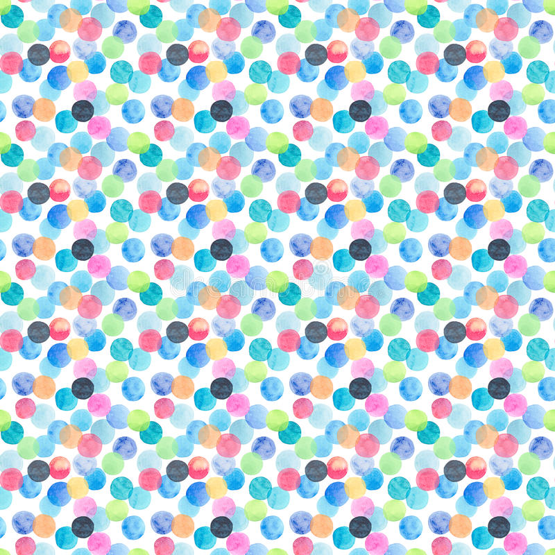 Abstract beautiful artistic tender wonderful transparent bright blue, green, red, pink, yellow, orange, navy circles pattern water royalty free illustration