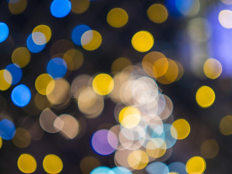 Abstract beautiful background colorful bokeh of christmas decoration lights stock photography