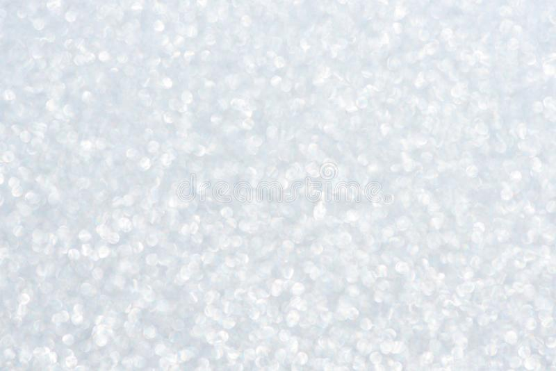 Abstract beautiful background of silver sparkles or glitter for festive design stock image