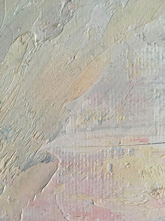 Abstract large strokes of oil paint pastel shades on canvas. Abstract beautiful large strokes of oil paint delicate pastel shades on canvas royalty free stock images