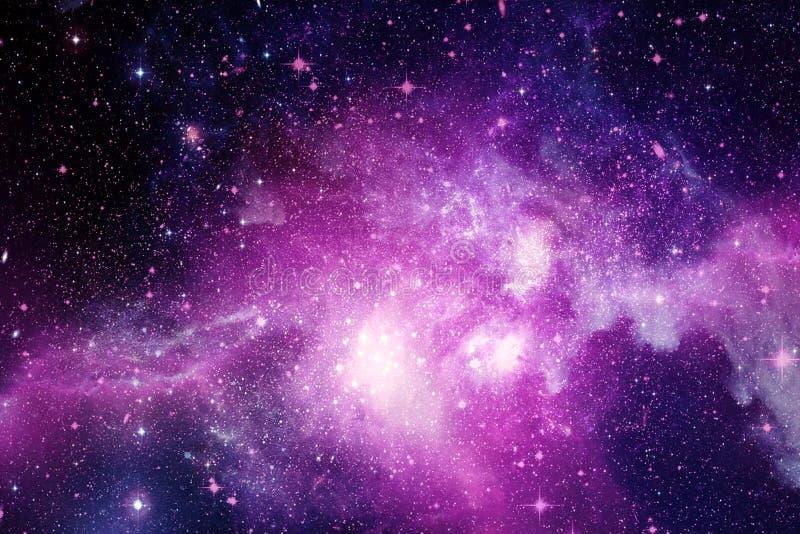 Abstract Beautiful Pink Nebula Galaxy I A Deep Space Background stock illustration
