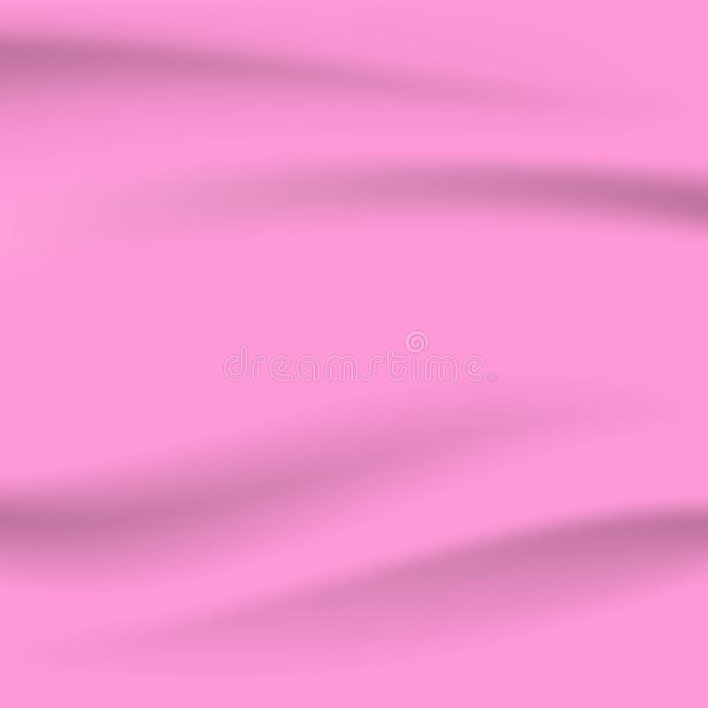 Abstract beautiful smooth of pink fabric curve background vector illustration royalty free illustration