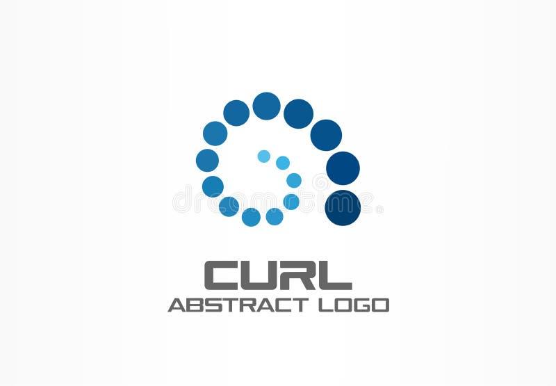 Abstract bedrijfembleem De sociale media, de groei, Internet verbinden logotype idee Ladings spiraalvormige groep, werveling vector illustratie