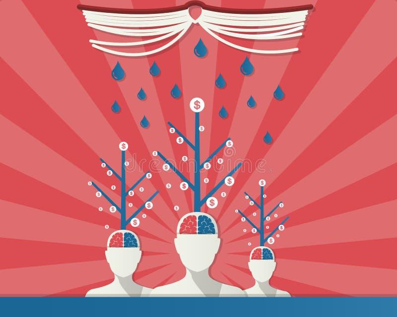 Abstract bedrijfsconcept kan voor uw zaken worden gebruikt, boeken vector illustratie
